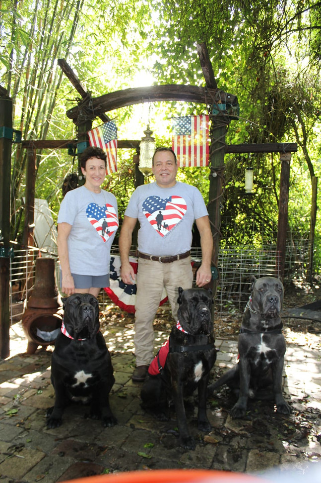 Our founders, Harry Toro and Ginny Sweet, are members of military families. They are devoted to helping our Veterans return to civilian life after their service for the country ends by providing trained service dogs at no cost to the veteran.