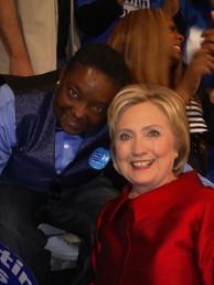 Dionne Johnson & Hillary Clinton