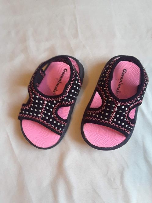Pokadot Pink Baby Sandals