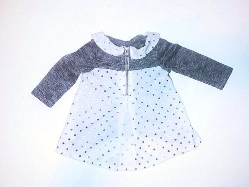 Silver Pokadot Dress/Shirt