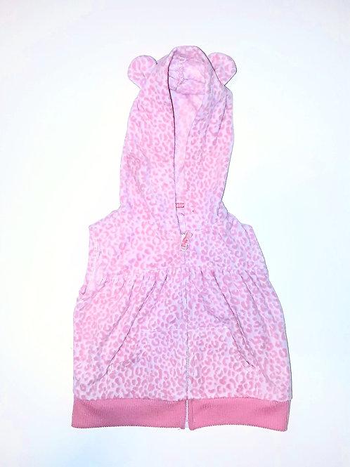 Pink Leopard Hoodie Vest