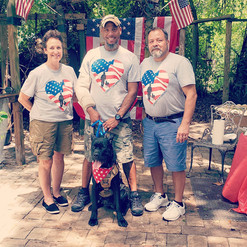 Service dog donation from Corsos For Heroes on the perfect day! Happy Independence Day!