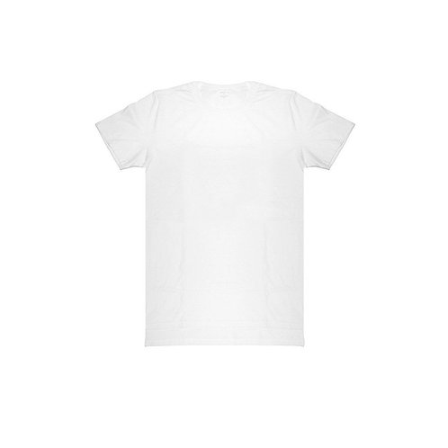 WHITE DROP BACK TEE