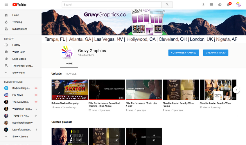 You Tube Channel Design