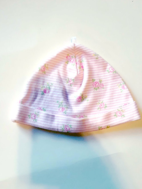 """""""Rosey Stripes"""" Baby Hat"""