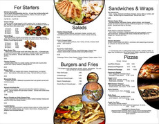 Menu Brochure Design