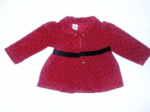 Red Pokadot Coat