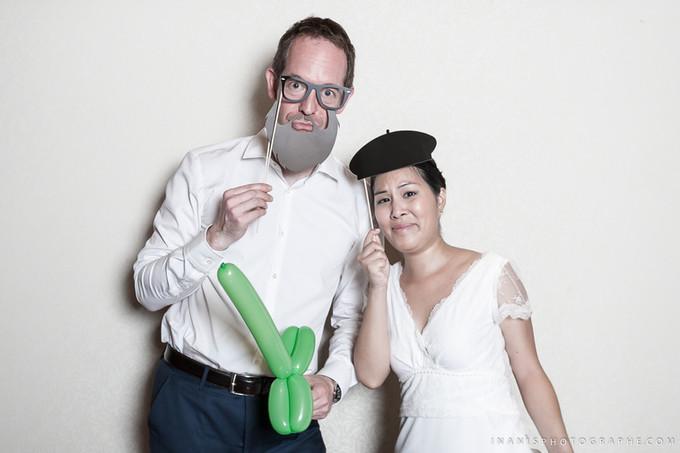 Mariage de Kim et Benjamin, le photobooth