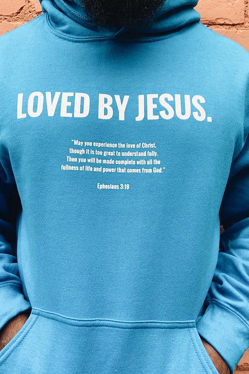 """""""LOVED BY JESUS"""" Hoodie (Blue)"""
