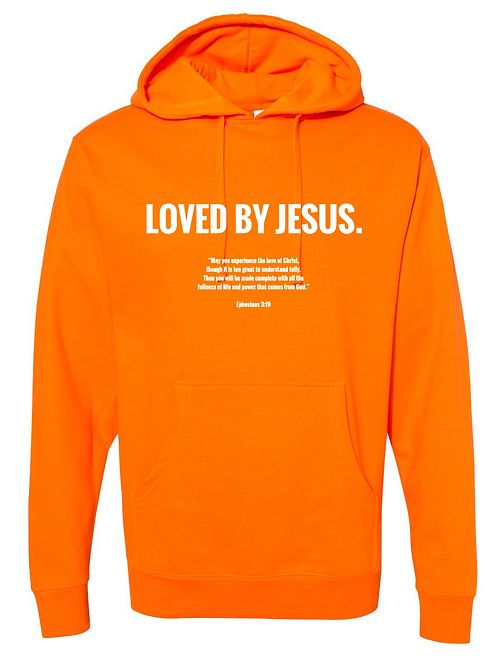 """LOVED BY JESUS"" Hoodie (Orange)"