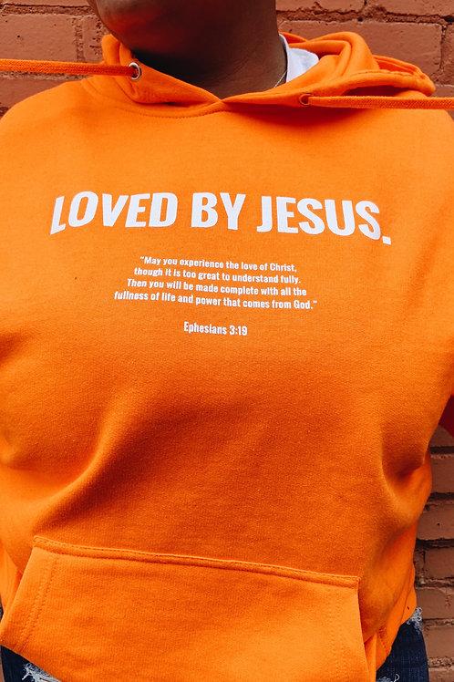 """""""LOVED BY JESUS"""" Hoodie (Orange)"""