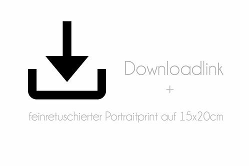 retuschierte Datei + Print auf 15x20cm