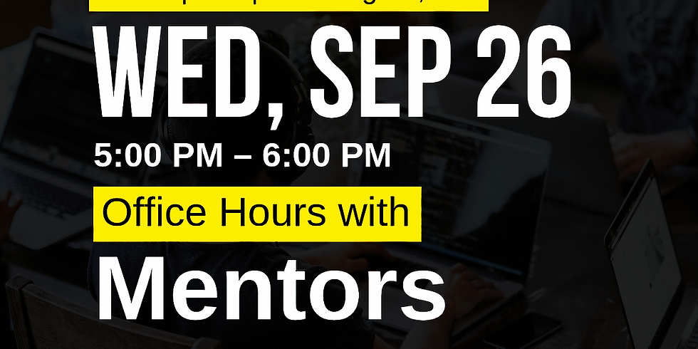 Office Hours with Mentors - DC