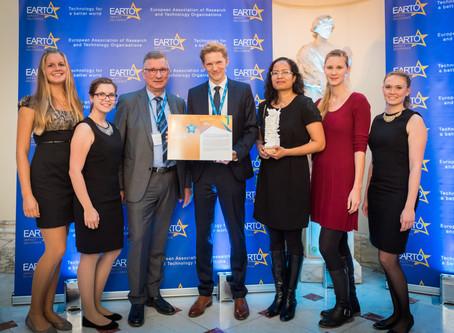 SenseUp receives European innovation award by EARTO