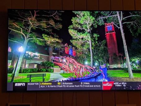 We saw the Gator on ESPN!!