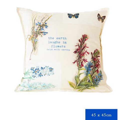 The earth laughs in flowers - cushion cover