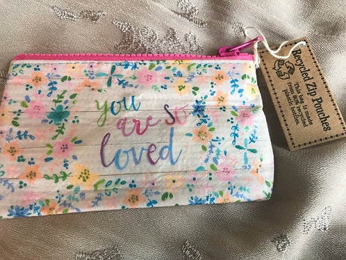 """You are so loved"" zipped gift wrapper"