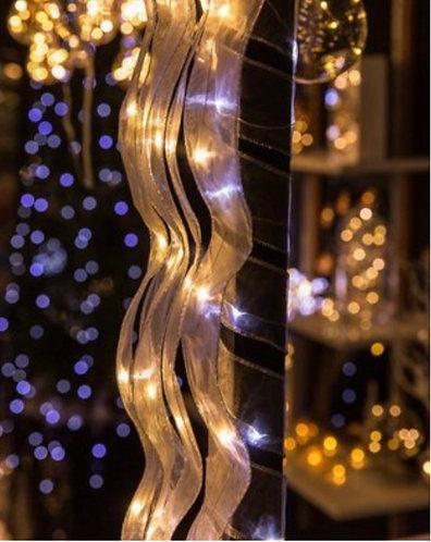 Organza Ribbon of Silver Lights