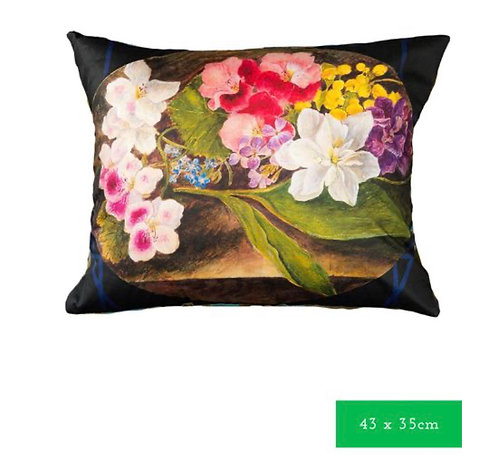 Bright floral cushion cover