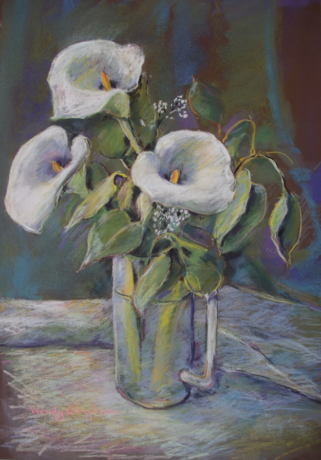 Lilies and Gum leaves
