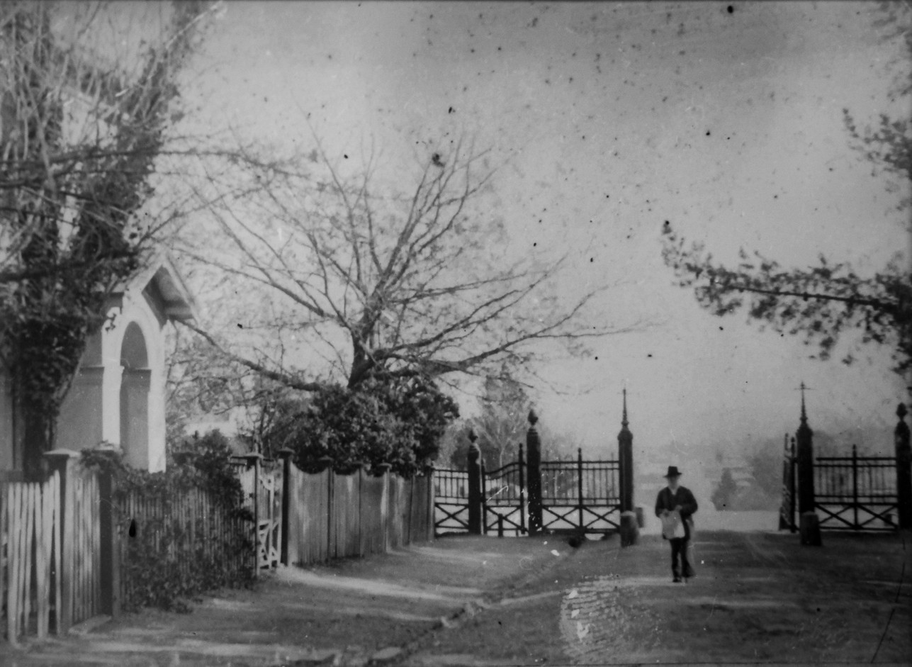 Asylum gates and lodge