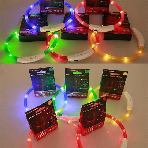 Rechargeable LED Flashing Collar