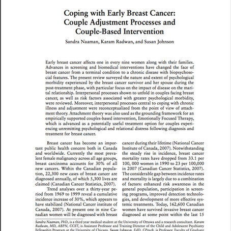 Coping with Early Breast Cancer: Couple Adjustment Processes and Couple-Based Intervention