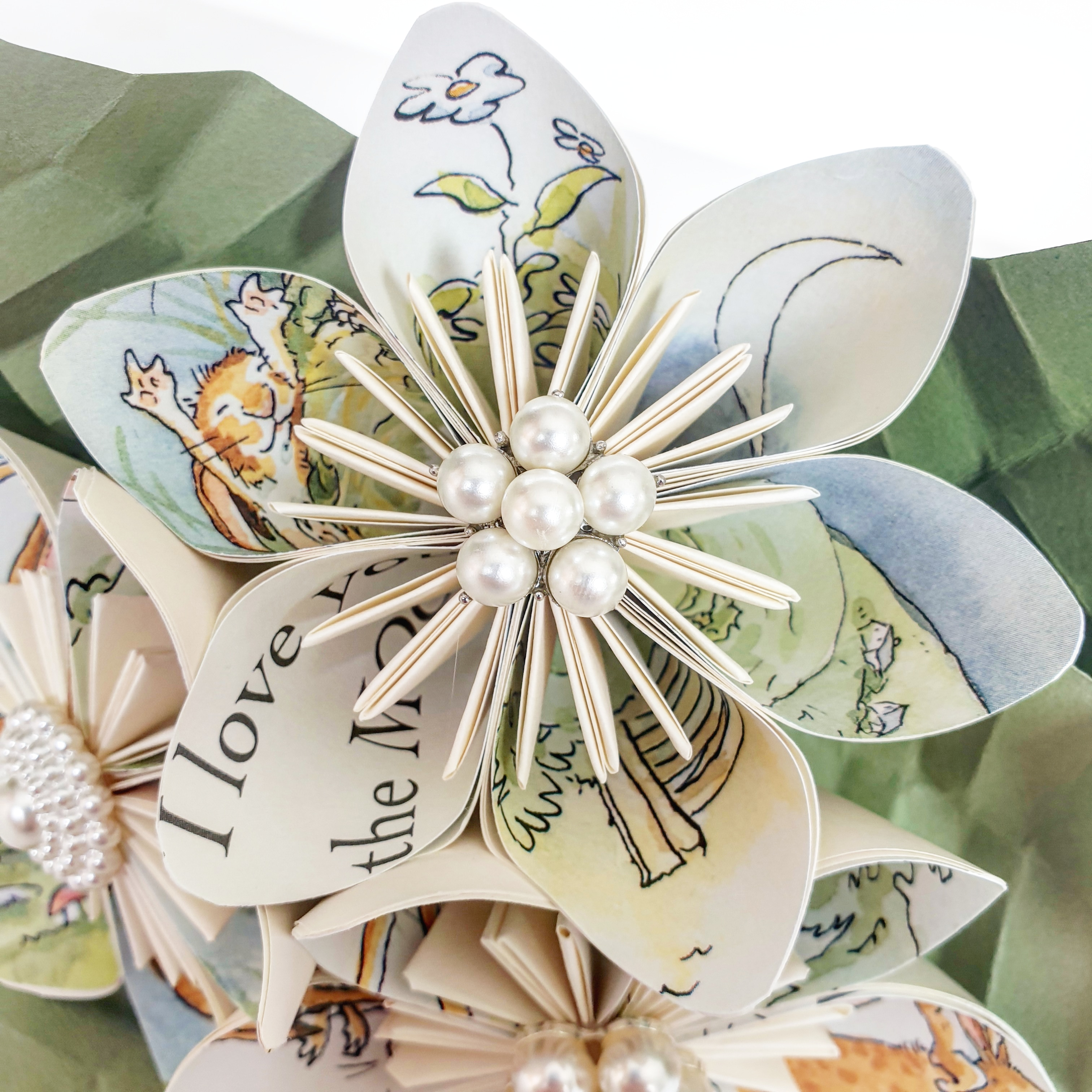 How Much I Love you paper bouquet flowers