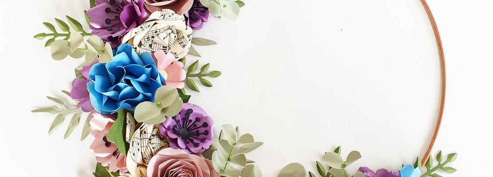 Bridal Hoop Bouquet Alternative Paper Flowers