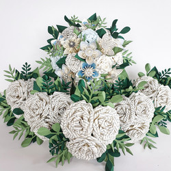 Book bouquet paper flowers wedding bridal