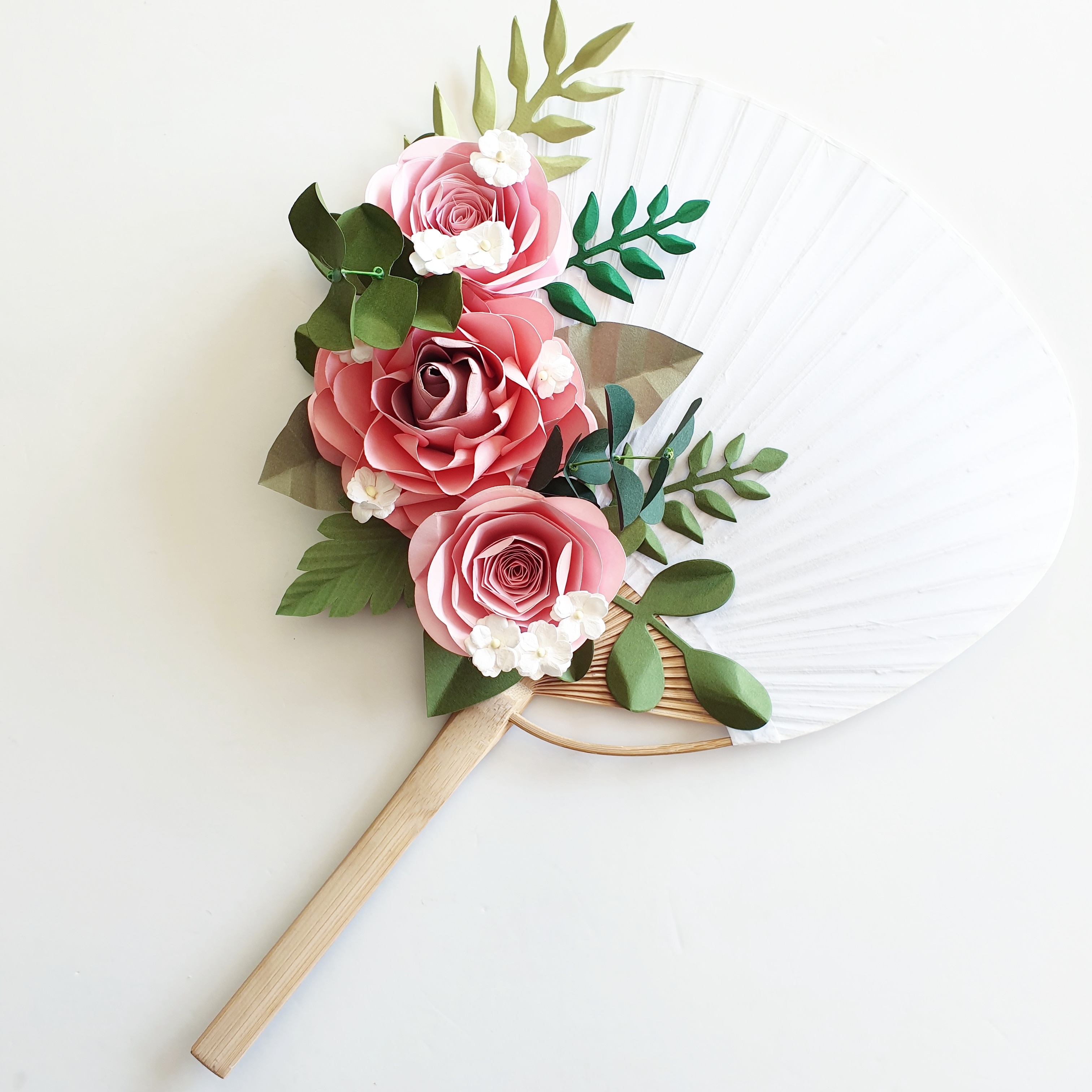 Paper Flower wedding bridal hand fan