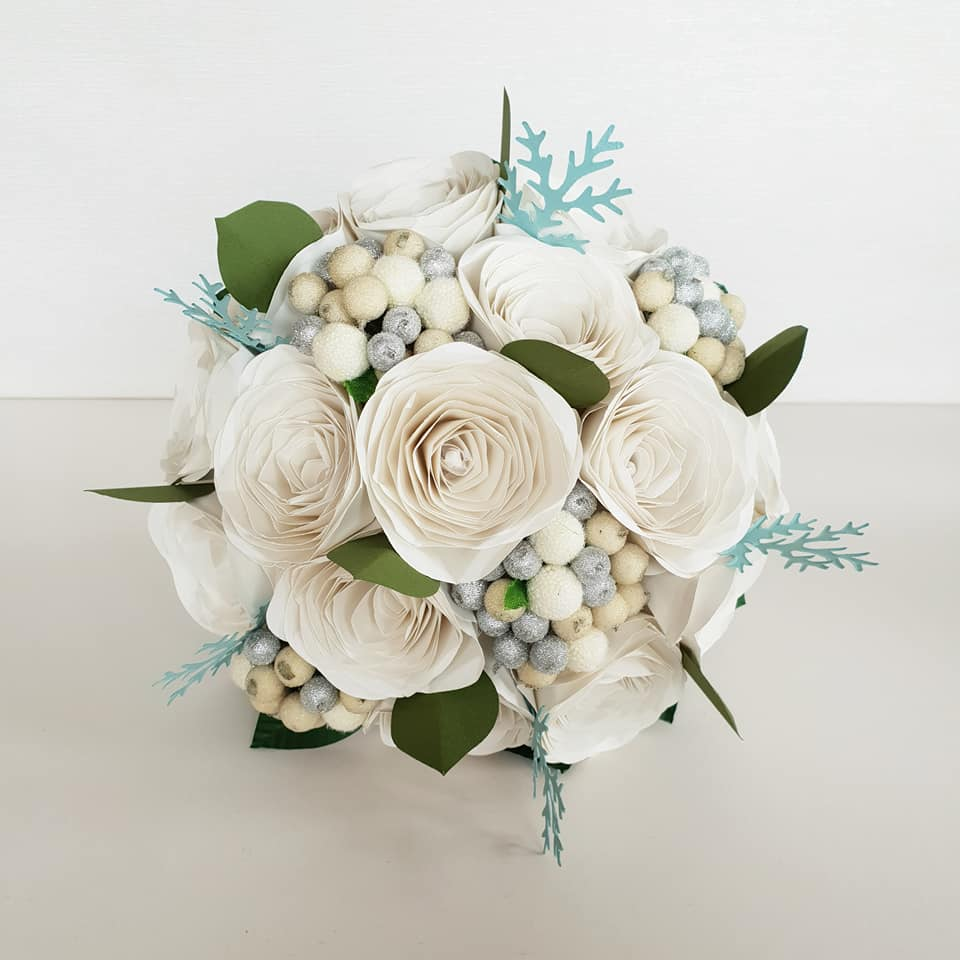Paper flowers Christmas wedding