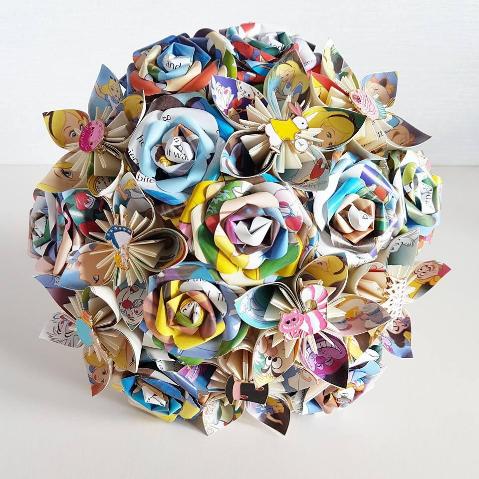 Paper Wedding Bouquet Origami Flower Bridal Alternative Uk