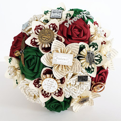 Harry Potter paper wedding flowers theme bouquet