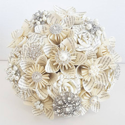 Book and brooch bouquet