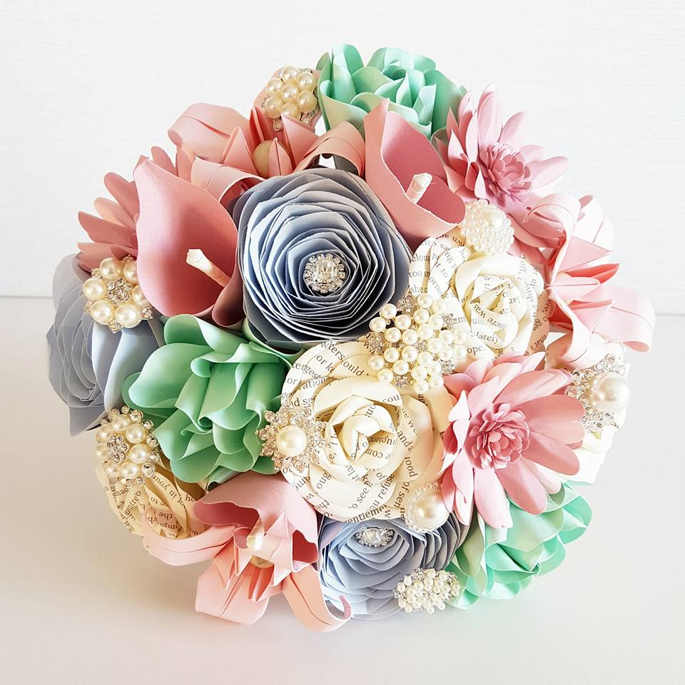 Pastel Paper Bridal Bouquet