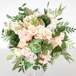Paper Flower wedding bouquet alternative to real fresh silk