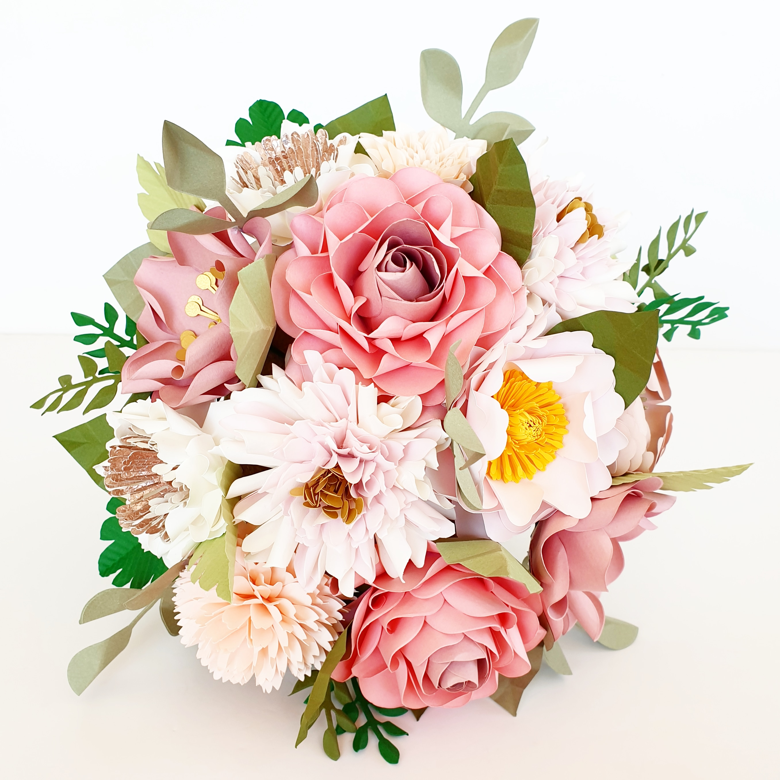 Paper Flower Wedding bouquet pink luxury