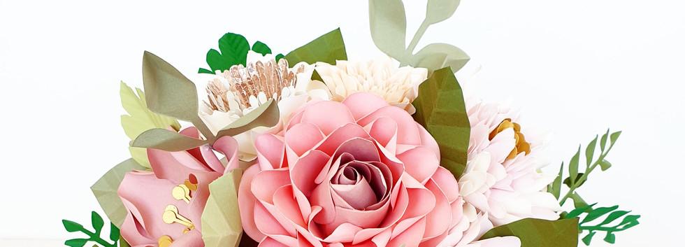 Paper Flowers wedding bridal bouquet