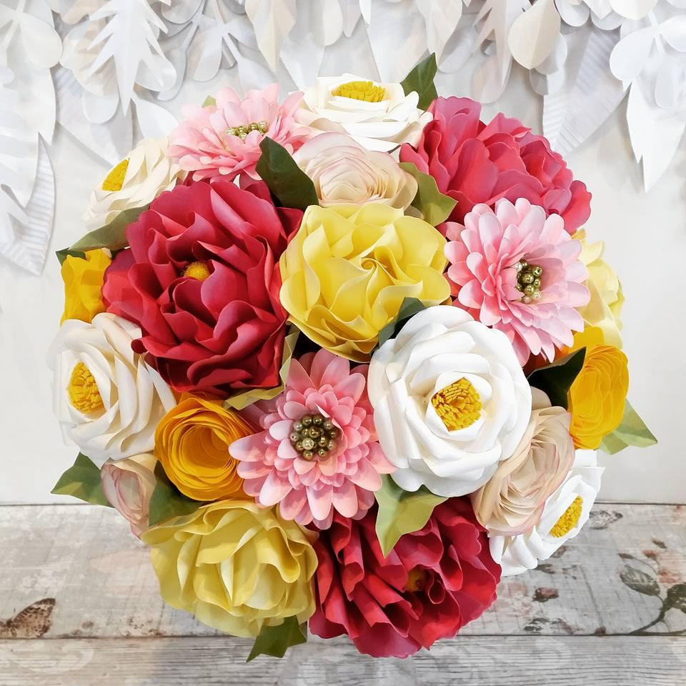 Summer Peony Paper Bouquet