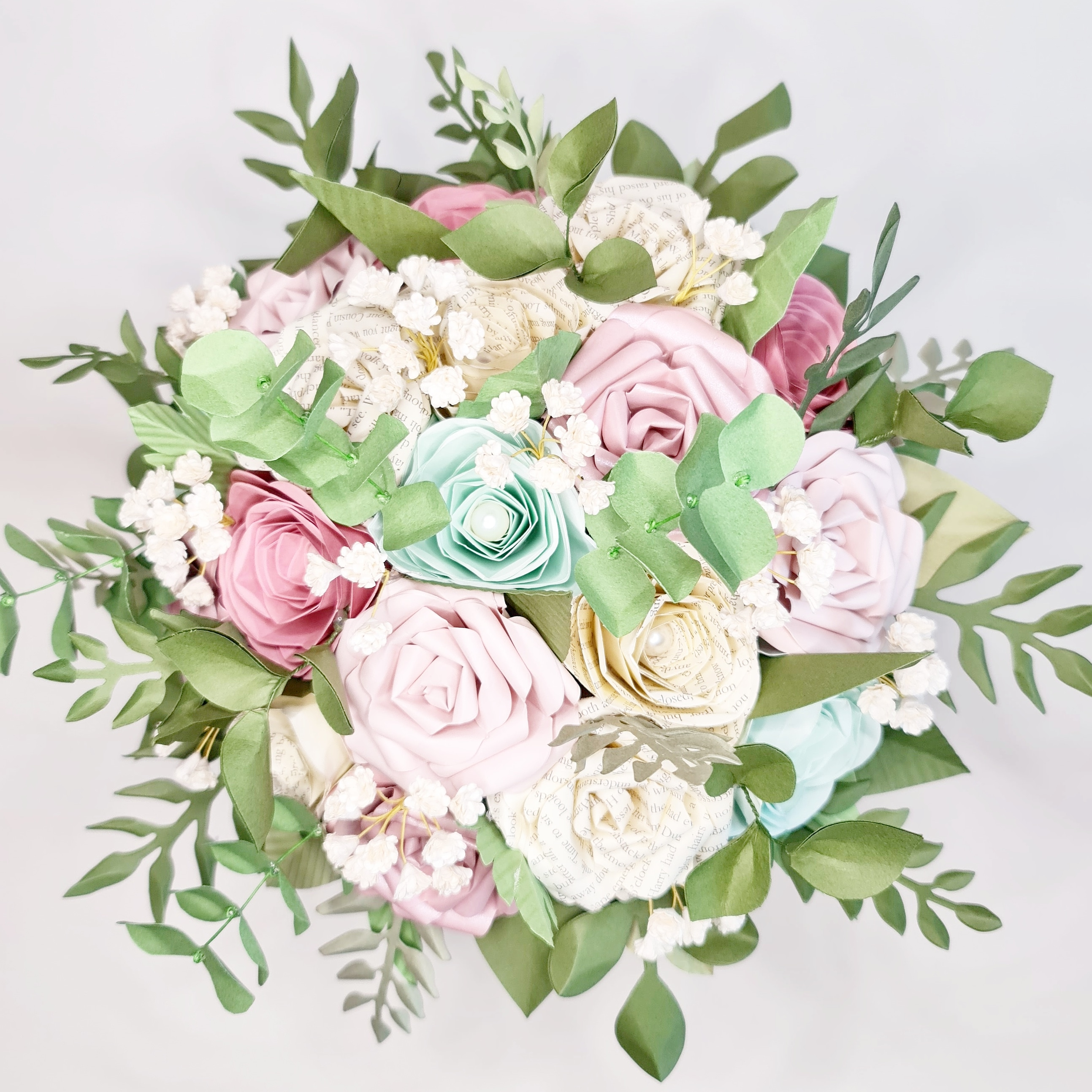 Spring Bouquet bridal wedding paper flowers