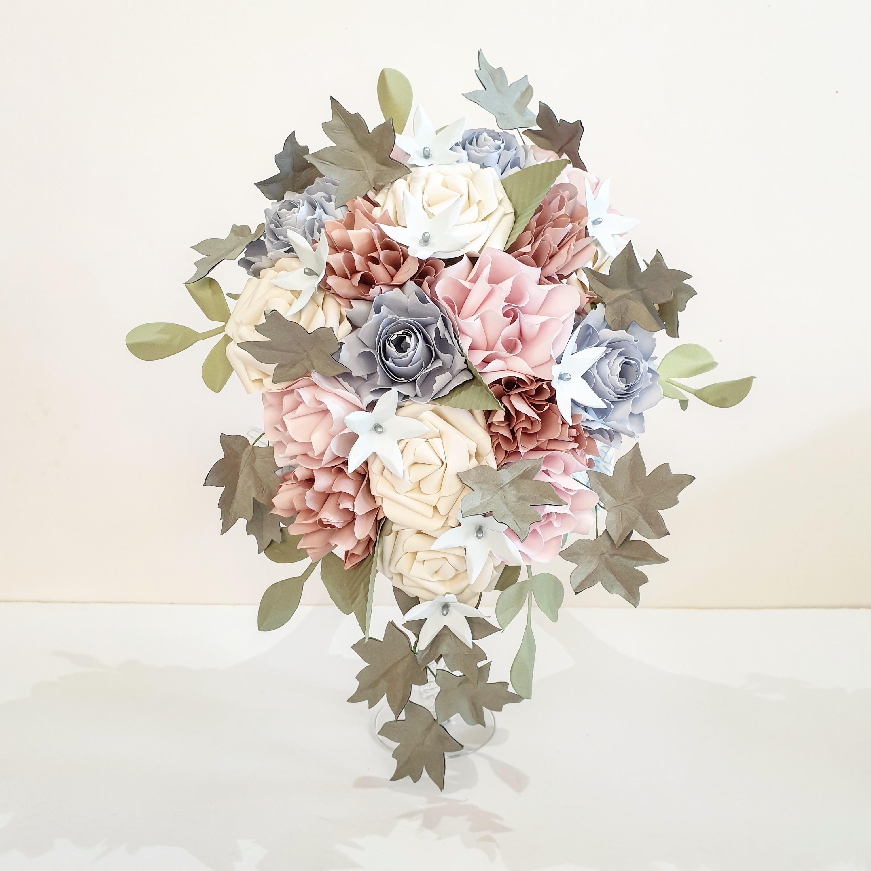 Whimsical wedding flowers bridal bouquet princless pink blush powder blue