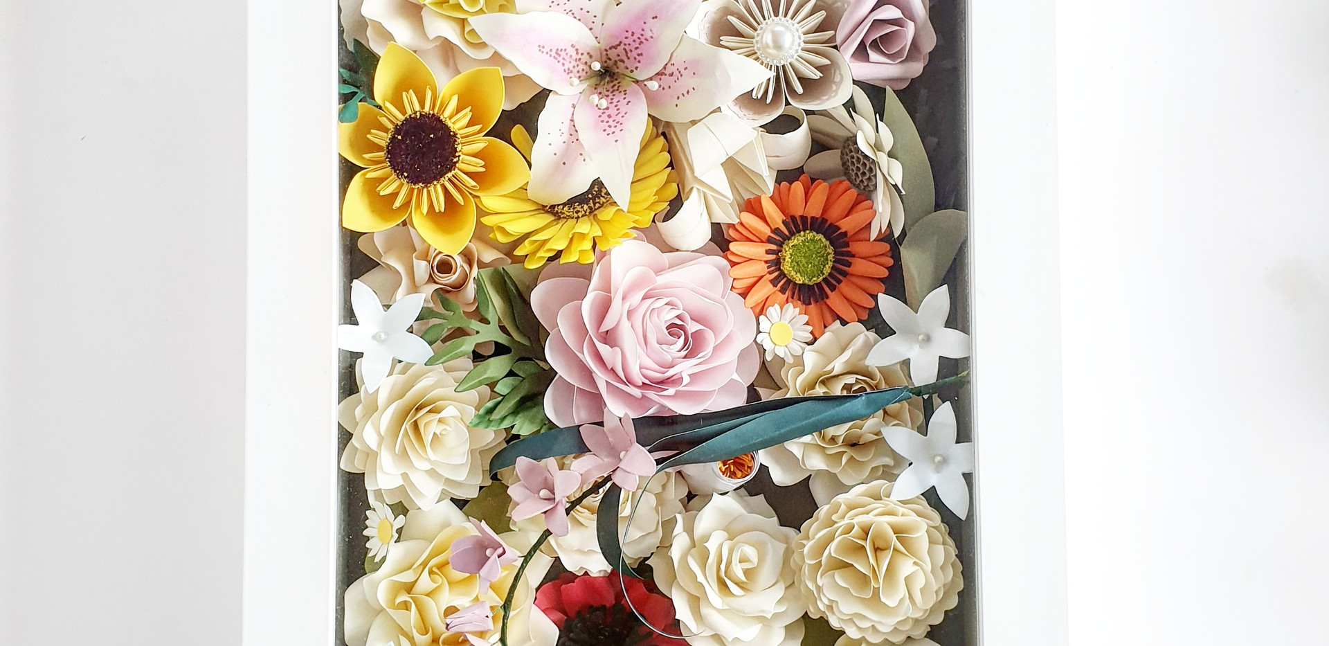 Paper Flowers box frame