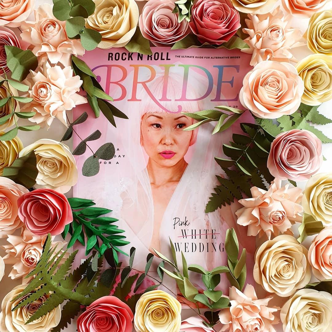 Rock n roll bride paper flowers
