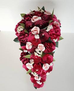 Cascading paper bouquet