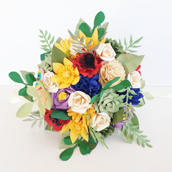 Bright free form flower bouquet paper