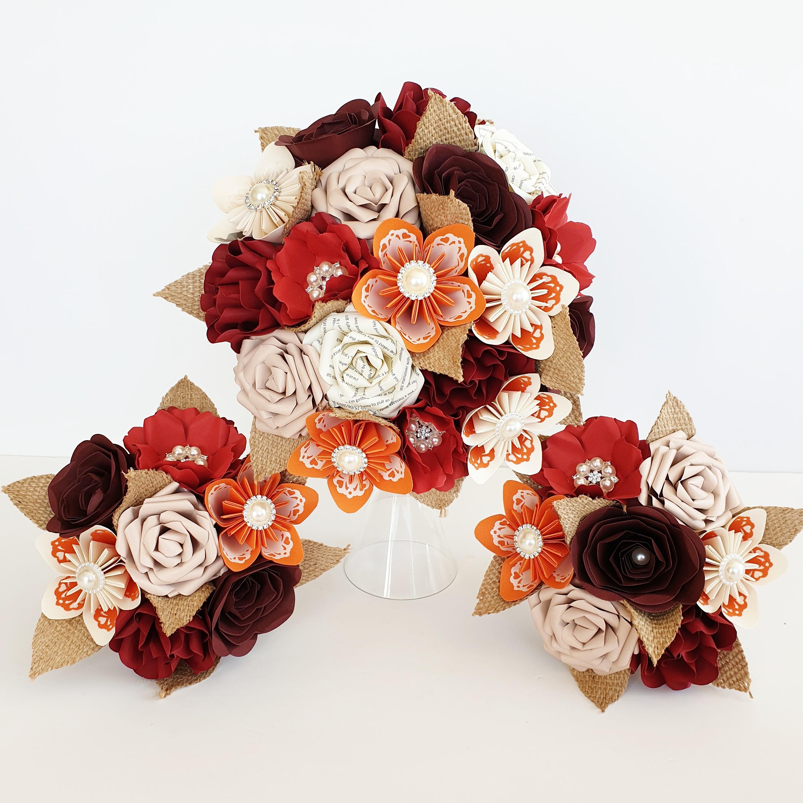 Autumn wedding paper flowers