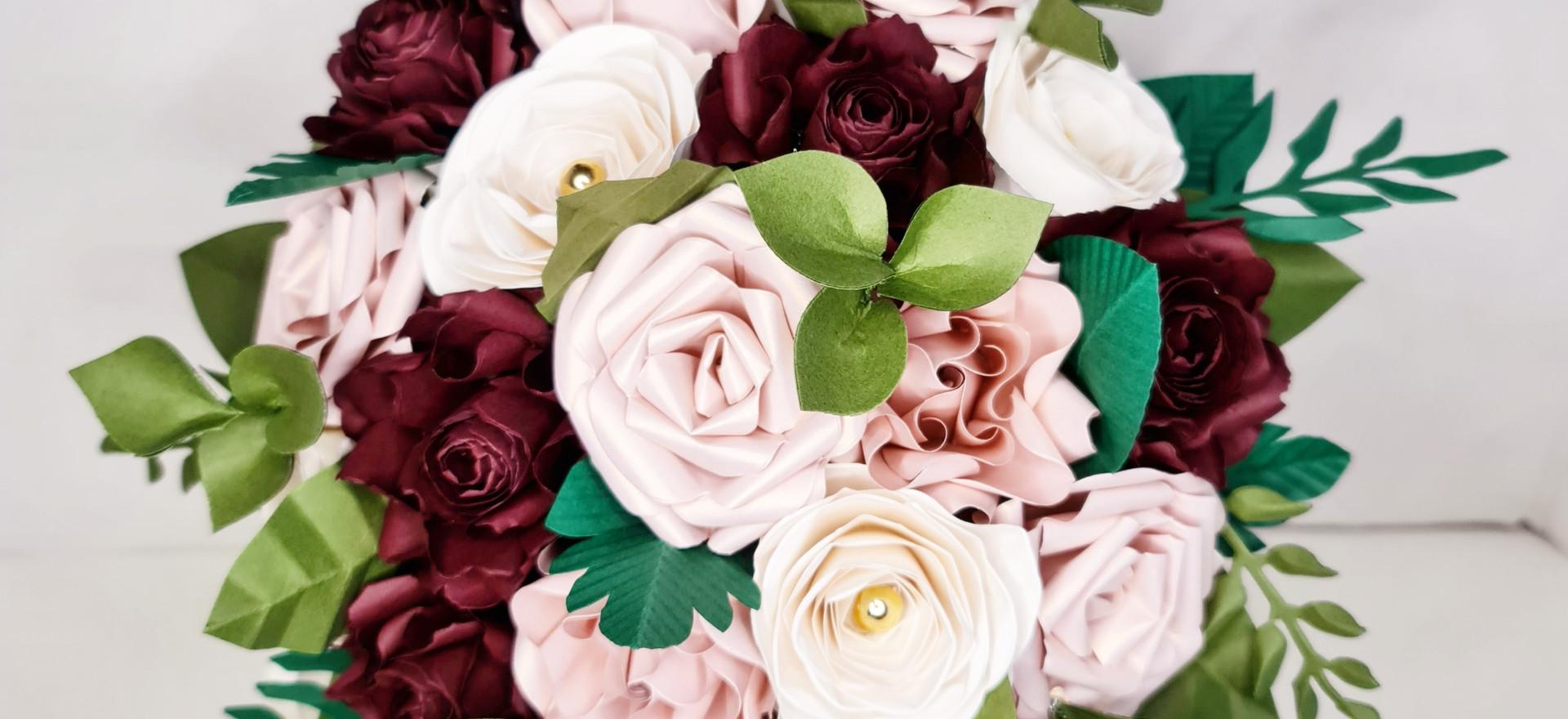 Paper Flowers Wedding Bouquet