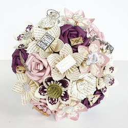 Harry Potter theme wedding ideas paper book bouquet bridal