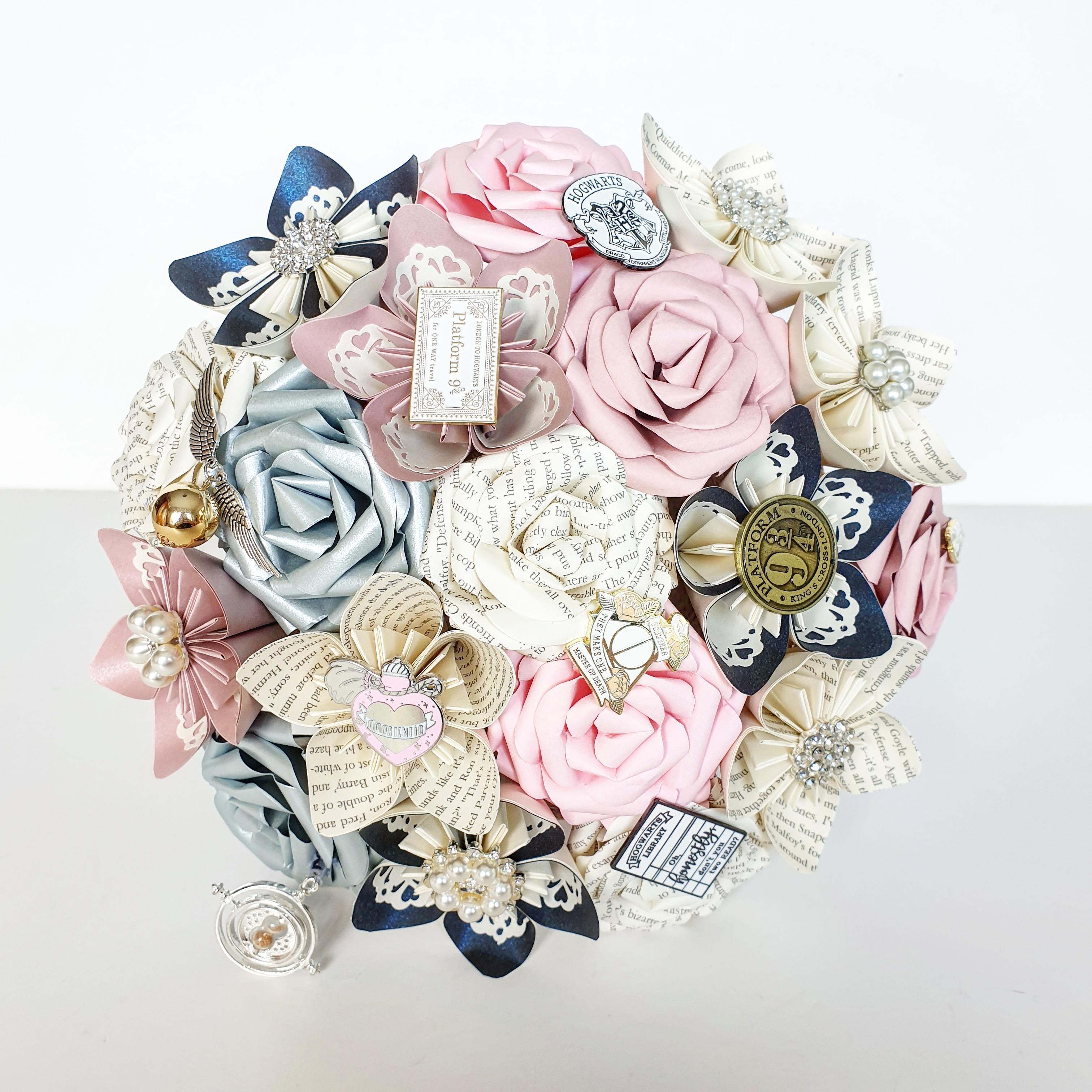 Harry Potter theme wedding paper flower bouquet